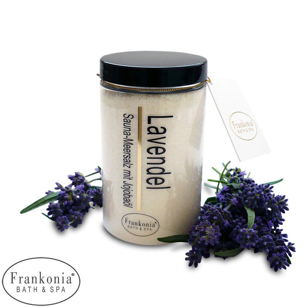 Frankonia Sauna Meersalz Lavendel 400g Hautpeeling mit Jojobaöl Saunasalz