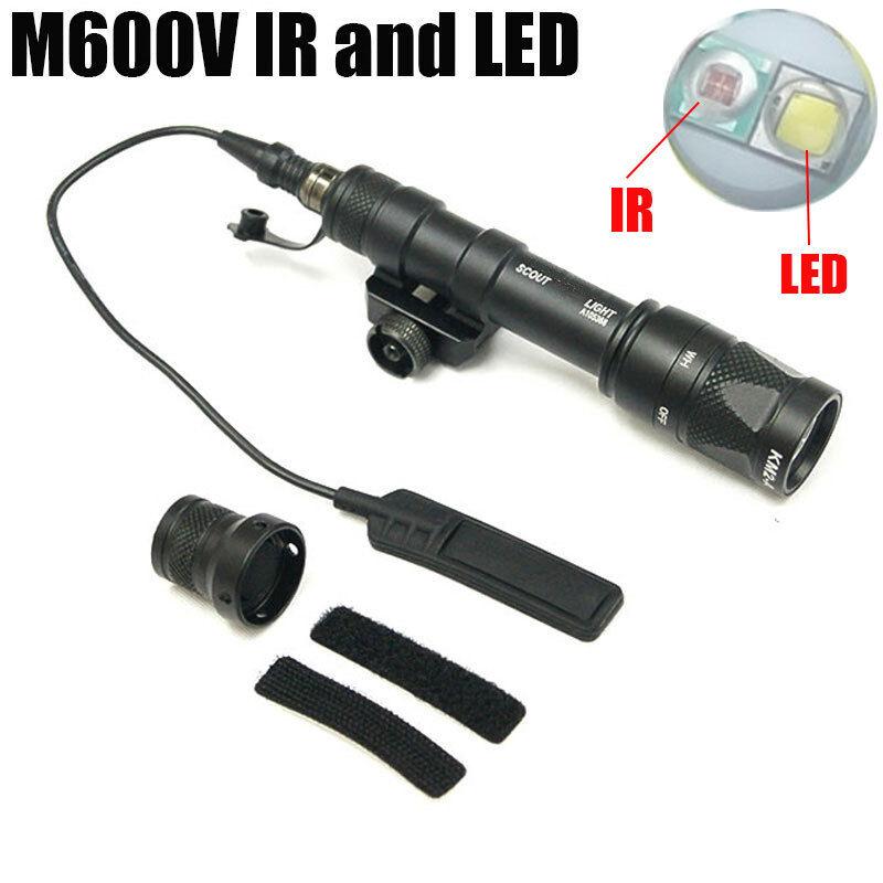 M600V-IR Weapon Light Dual Output Scout Light White LED & IR Infra-red Output