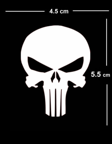 Skull Iron on Screen Print fabric Machine Washable Transfer Biker punisher