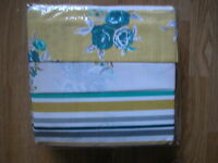 Next Ochre Teal Vintage Floral Print Shabby Chic 2 Packs King Size Duvet Bed Set