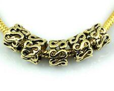 50pcs Gold Plated Charm Beads Fit European Bracelet J002