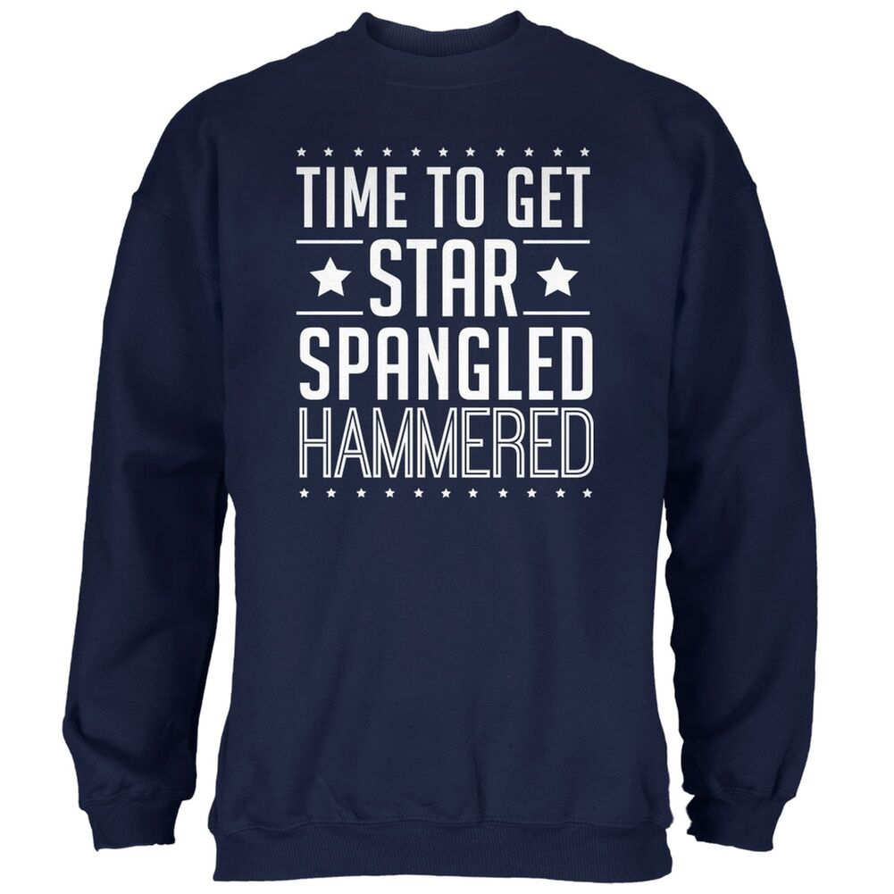 Time to get Star Spangled HammeROT Navy Adult Sweatshirt