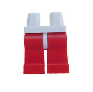 Lego-10-rote-Beine-weisse-Huefte-fuer-Minifiguren-red-legs-white-Hips-Neu-New