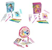 Disney Store Stationary Set Case Markers Pencils Notepad Art Supply 30 Piece