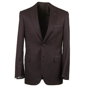 Brioni-Modern-Fit-039-Brunico-039-Layered-Check-Wool-and-Silk-Sport-Coat-38R-NWT