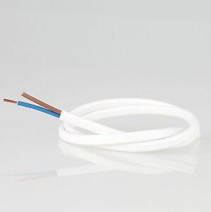 Pvc Lampen Kabel Elektrokabel Leuchten Kabel Weiss 2 Adrig 2x0 75 Flach Leitung Ebay