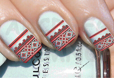 60x Water decals PIZZO INVERNO UNGHIE NAIL ADESIVI LACE WINTER TRANSFER STICKERS