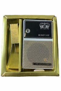 Vintage-Kroenchen-Windsor-Deluxe-Transistorradio-mit-Box