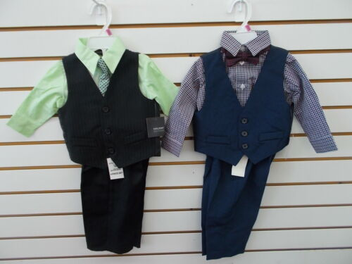 Infant//Toddler Boys Holiday Editions 4pc Green or Checkered Suits Sz 12m 5T