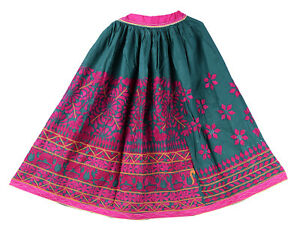 a1186e2cc5 Image is loading Indian-Cotton-Rabari-Skirt-Kutch-Embroidered-Women-039-