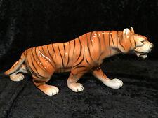 """Vintage ROYAL DUX BOHEMIA #312 Czech Porcelain Huge 17"""" Bengal Tiger Figurine"""