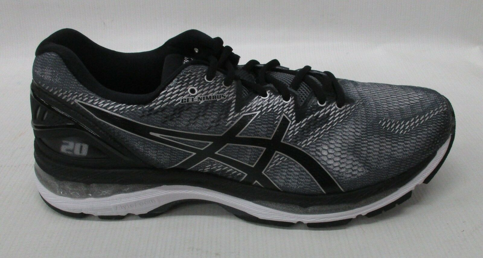 Asics Mens Gel Nimbus 20 Running Shoes T800N 9790 Carbon/Black/Silver Size 10.5