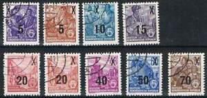 DDR-gestempeld-1954-used-435-442-Vijfjaren-Plan