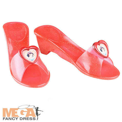 Snow White Jelly Shoes Girls Fancy Dress Fairytale Kids Childs Costume Accessory