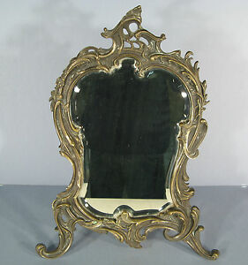 Psych de table de style louis xv rocaille miroir a for Miroir a poser sur table