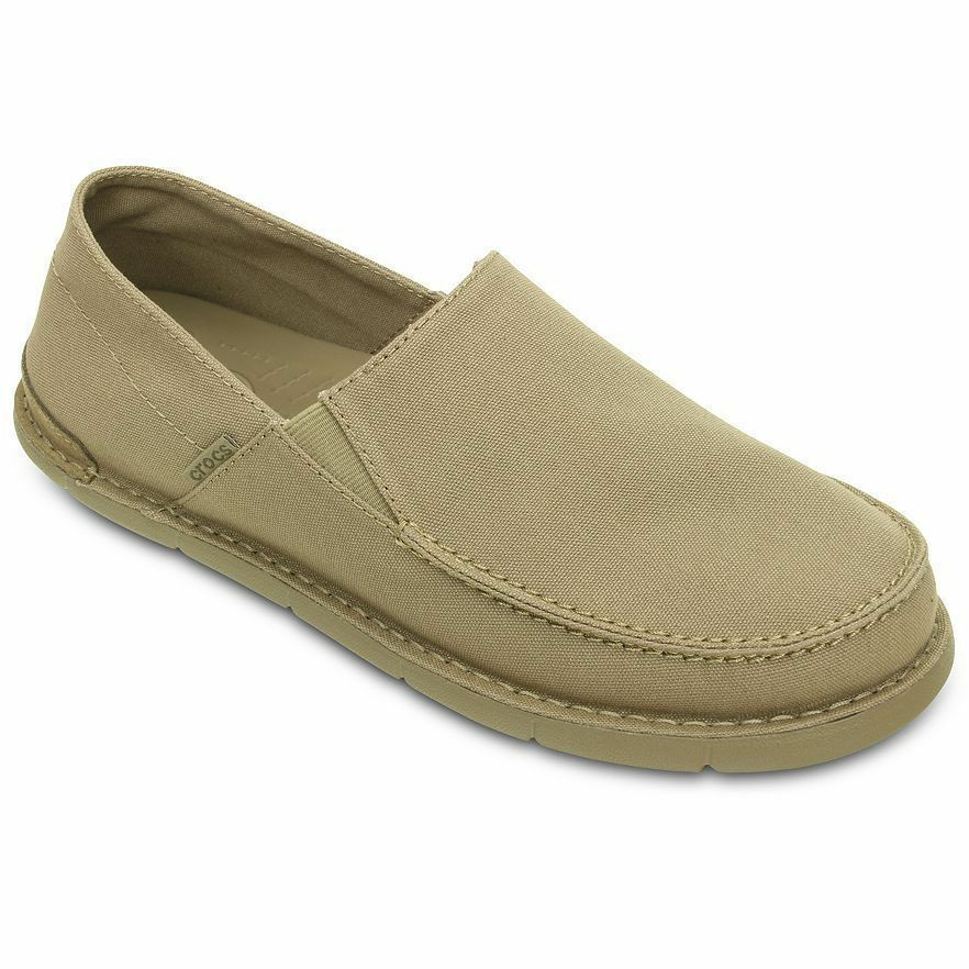 Crocs Cabo Canvas Slip on Loafers Shoes