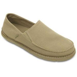 c93682bad140f NWT Mens Crocs CABO Canvas Slip On Loafers Khaki/ Khaki Size: 7 MSRP ...