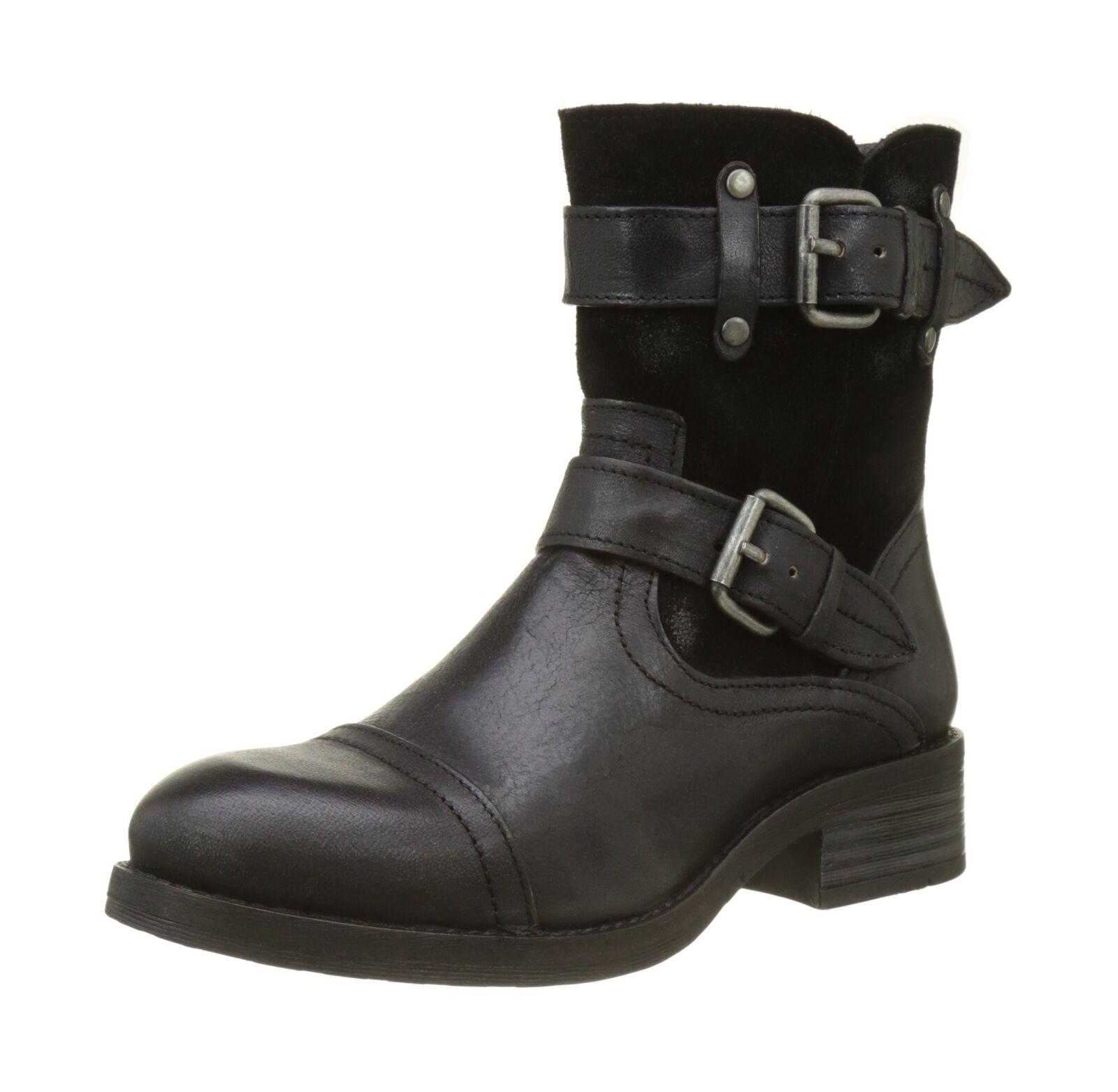 Grandes zapatos con descuento Buffalo London ES 30933 Jamata Suede, Womens Biker Boots Black (Preto 01 0)