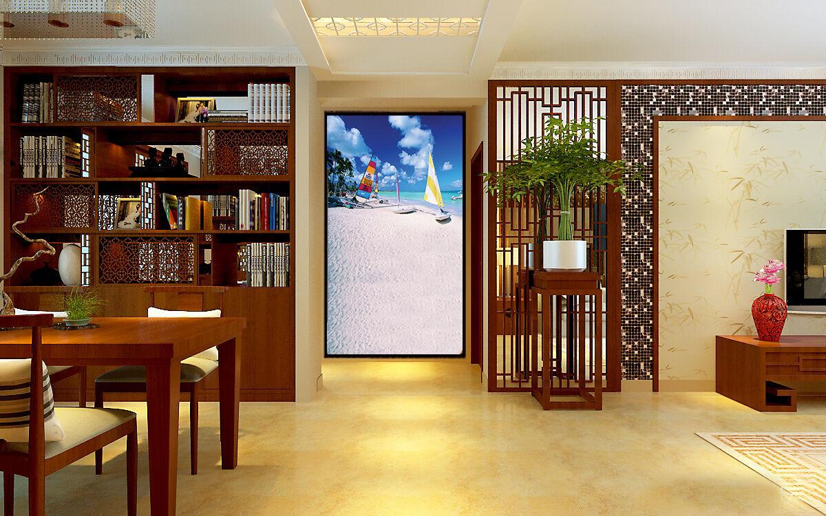 3D Barca Vela 55 Parete Murale Foto Carta da parati immagine sfondo muro stampa
