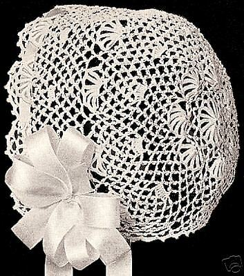 Vintage Antique Baby Cap Hat Bonnet Crochet Pattern 2