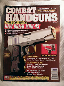 COMBAT HANDGUNS  MAGAZINE~ MAY 1998 ~ COLT CCO .45ACP NEW BREED MINI-45
