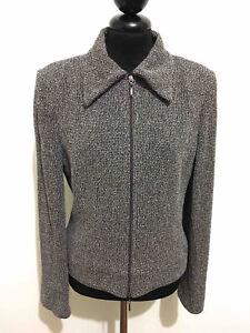 2010d2fd46759 LUISA SPAGNOLI Women s Jacket Wool Salt Pepper Woman Blazer Sz. s ...