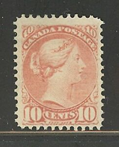 Canada # 45, 1891 10c Queen Victoria, No Cancel / No Gum