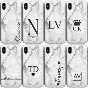 huge discount d2205 c7b73 Details about PERSONALISED INITIALS P20 P SMART Y6 Y7 CASE MARBLE HARD  COVER FOR HUAWEI PHONE