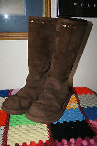 Image is loading UGG-BOOTS-7-Uggs-7-brown-tall-boots-