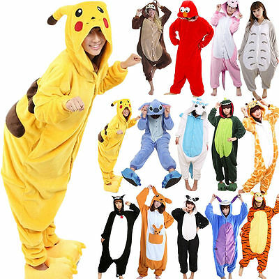Hot Fancy Dress Cosplay Suit Adult Unisex Hoodie Pyjamas Animal Sleepwear UK