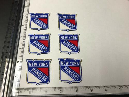 6 pc  New York Rangers Fabric Applique Iron On Ons