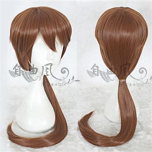 Rurouni Kenshin HIMURA KENSHIN Kostüme Cosplay Costume Perücke wig Braun Lang