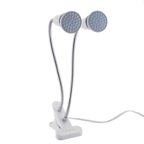 Dual Head  LED Plant Grow Light Lamp Desk Holder Clip hydroponic Indoor Seeds