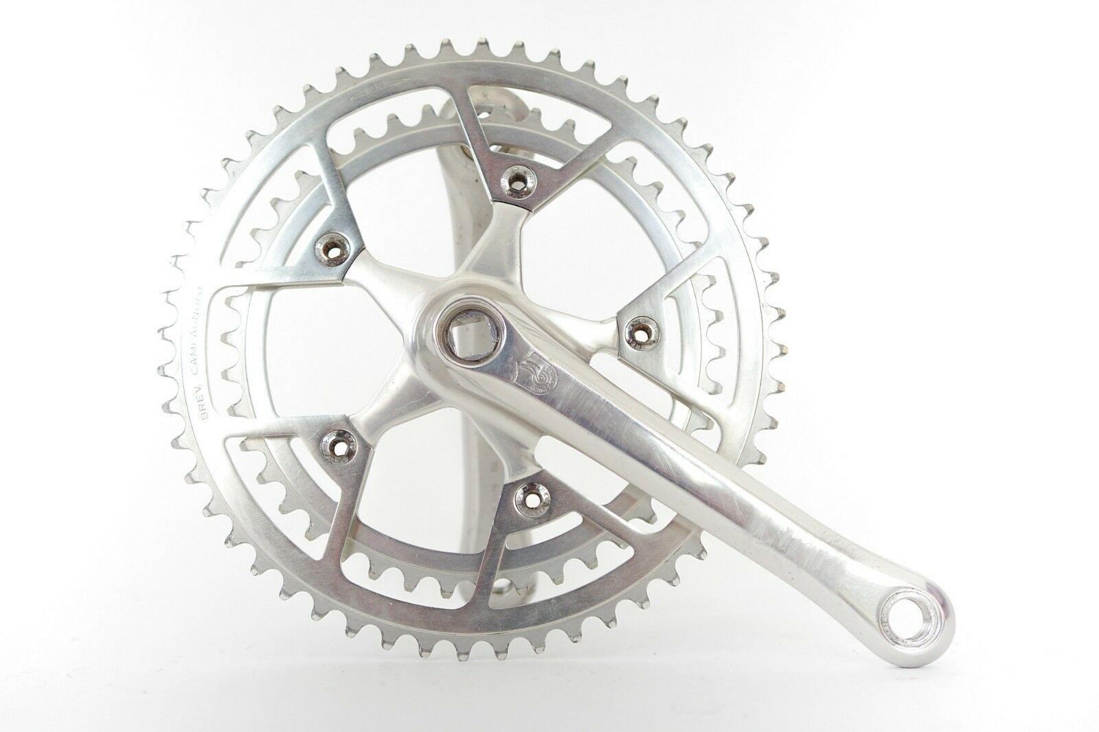 Vintage Campagnolo Victory Triomphe Bicycle  Crankset Double 42 52T 170mm  beautiful