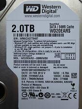 2 TB Western Digital WD20EARS-00MVWB0 / HHNNNTJCA / FEB 2013 / disco rigido