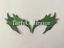 Poison Ivy Eyebrows Shaded Glitter Leaves, Eye mask, Cosplay, Poison Ivy Costume