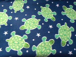 BLUE-STAR-TURTLES-FLEECE-PRINTED-FABRIC-60-034-wide-32-5-034-long