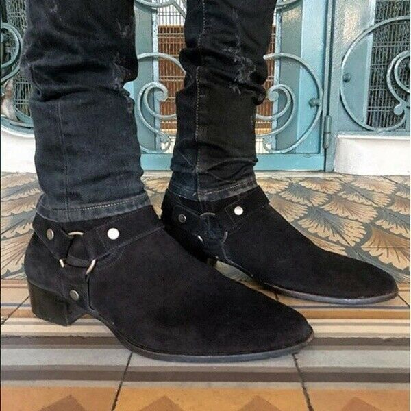Autumn Mens Casual Suede Chelsea Round Toe Ankle Riding Boot