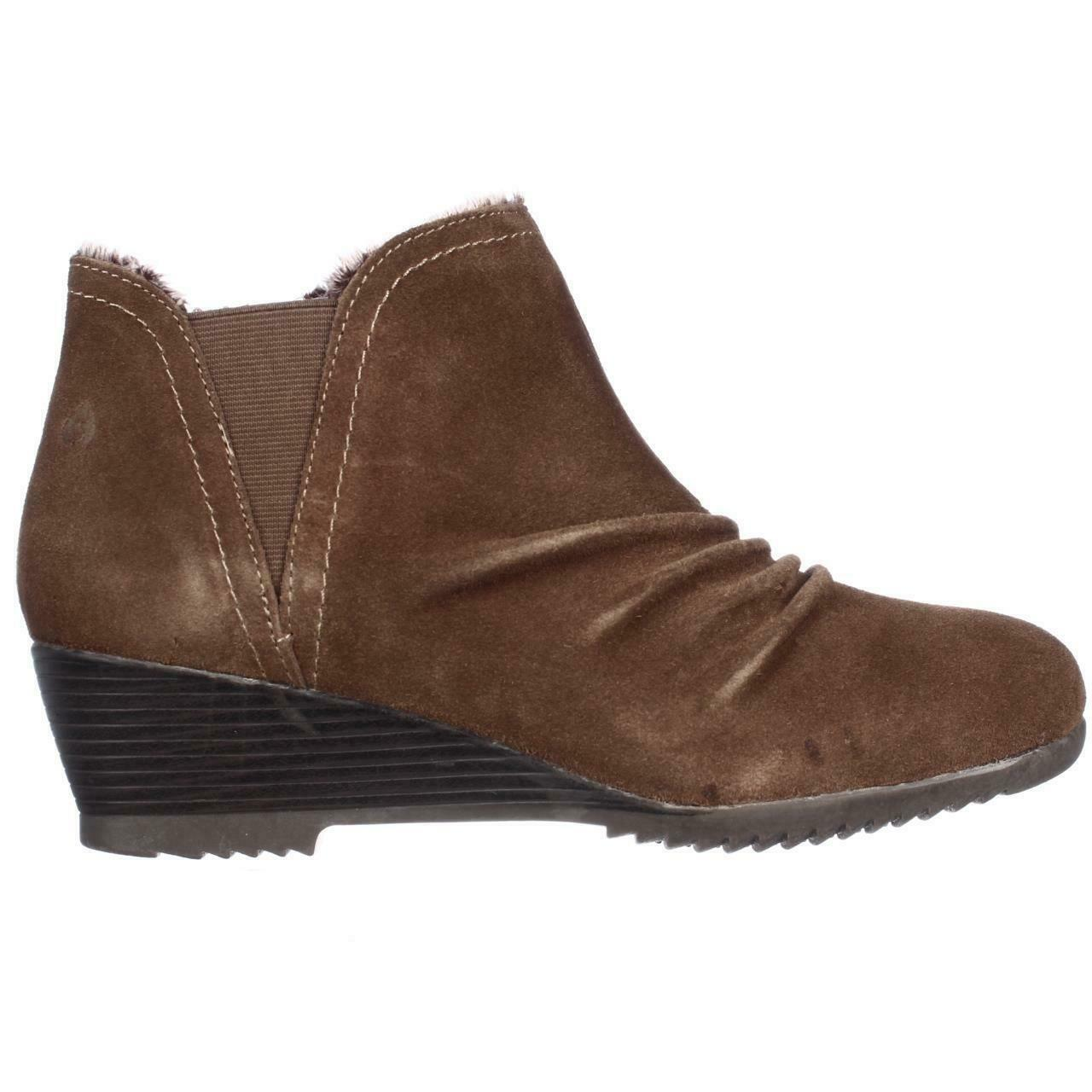 Sporto Drape Water-Resistant Ruched Suede Bootie Tan, Size 6.5 M