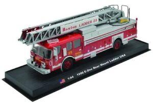 E-One-Rear-Mount-Ladder-Boston-Fire-Truck-1990-Diecast-164-Model-Amercom-GB-15