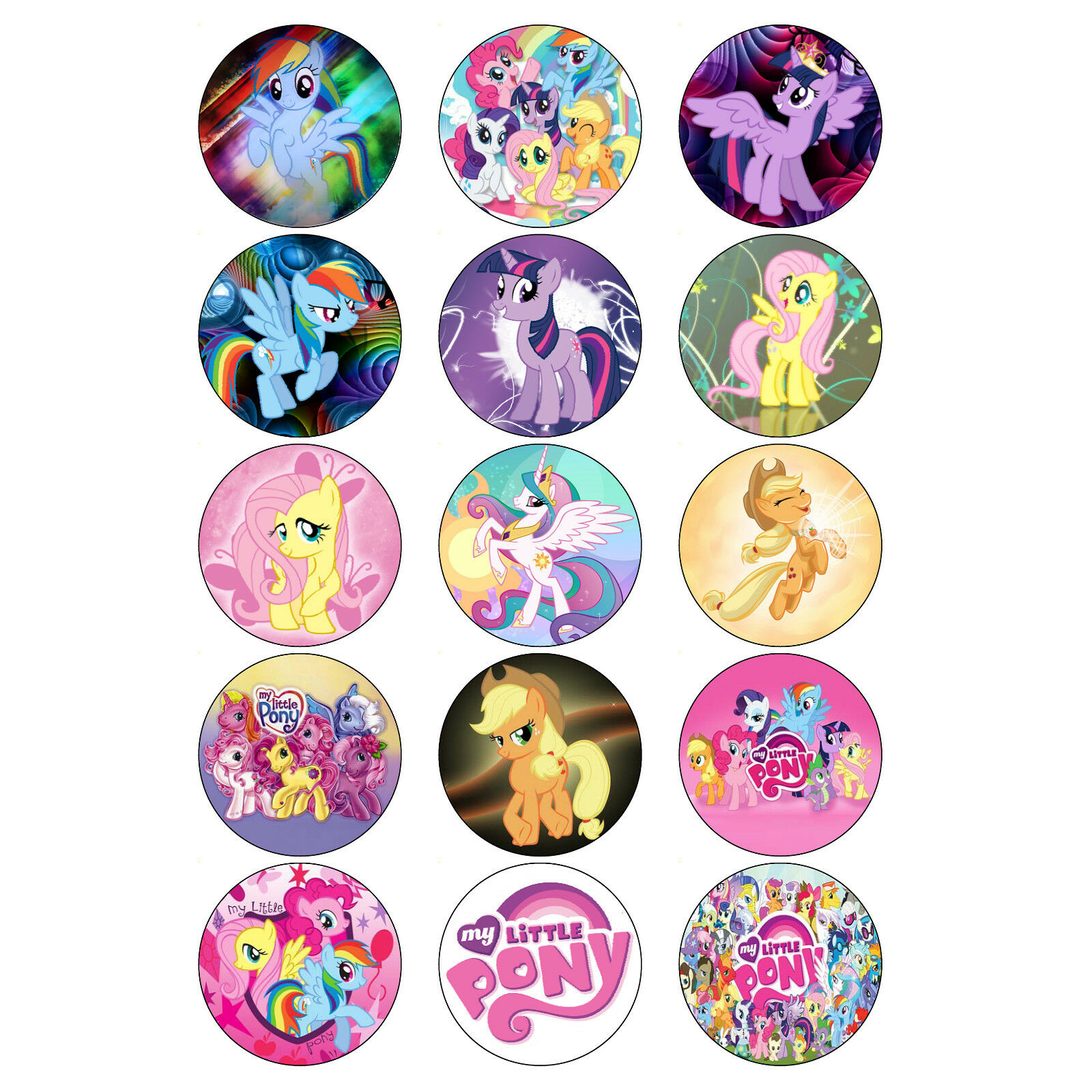 MY LITTLE PONY CUPCAKE TOPPERS BIRTHDAY PARTY MY LITTLE ...