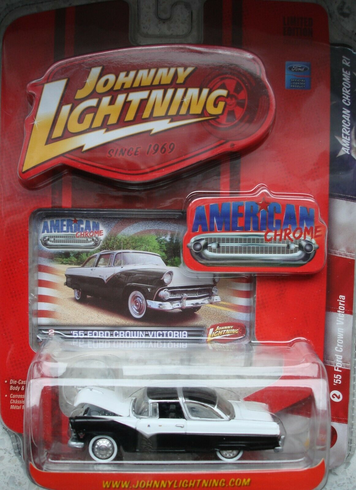 '55 FORD Crown Victoria - JOHNNY LIGHTNING AMERICAN CHROME R1 -OVP-    Discount