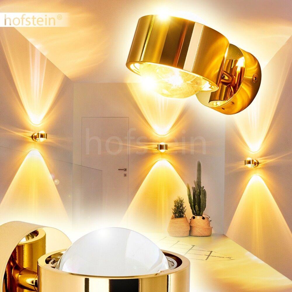 Goldfarbene Design Up Down Flur Strahler Wohn Schlaf Zimmer Leuchten Wand Lampen