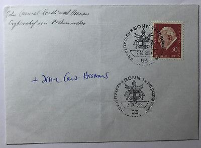 1905-1975 Den Teint Zu Erhalten UnermüDlich John Carmel Heenan Erzbischof Von Westminster- Orginal Autogramm Verhindern Dass Haare Vergrau Werden Und Helfen