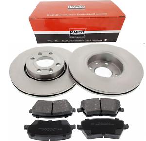 NISSAN MICRA K12 160 SR SET 2 Bremsscheiben 4 Beläge vorne für die Vorderachse