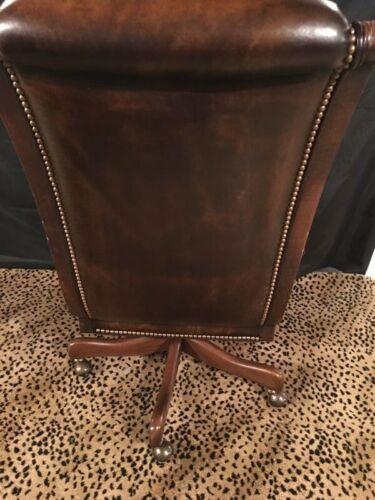Hancock & Moore Executive Editorial Tilt Swivel Chair Brown Leather