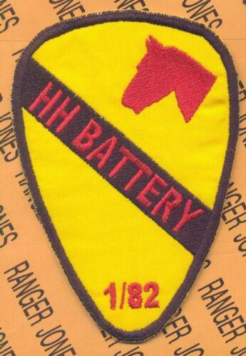 1st Cavalry Div 1-82 HH BATTERY Field Artillery patch