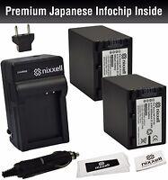 Nx-npfv100k1 Battery (2pack) & Charger For Sony Np-fv100,bc-trv,dcr-sr15,sr21,