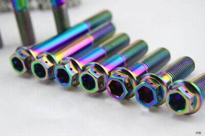1pcs Titanium M10 x 20//25//30//35//40//45//50//55//60//65//70//75 Motorcycle Flange Bolt