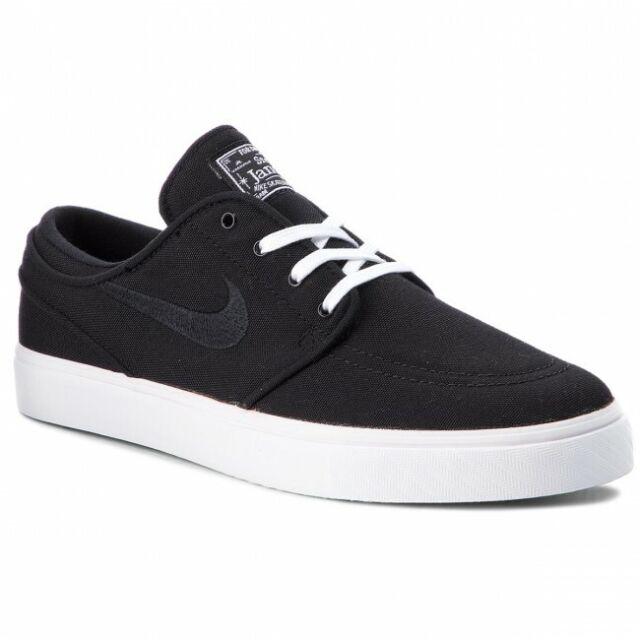 839fece0da623 Nike SB Zoom Stefan Janoski Canvas BLACK WHITE 615957-022 Skate Shoes Men's